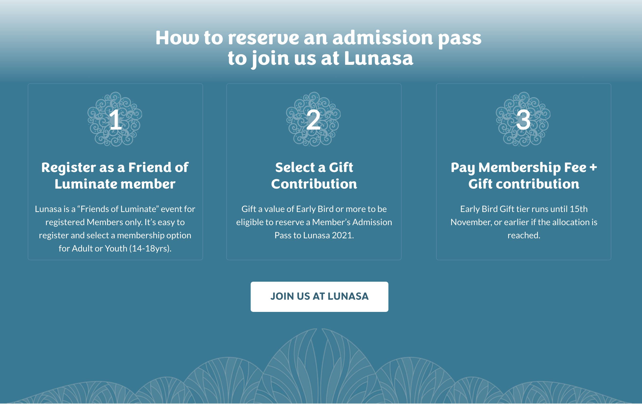 How to reserve an Admission Pass to Lunasa